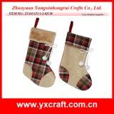 Chaussette de cadeau de chaussette de Noël d'approvisionnement de centre commercial de Noël de la décoration de Noël (ZY14Y190-3-4-5)
