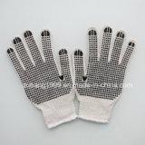 Cottongloves pointillé par PVC, fonctionnent des gants de sécurité du travail, gants de travail
