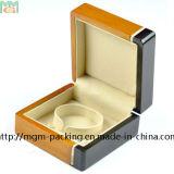 Caixa de madeira da jóia dobro por atacado da cor da laca