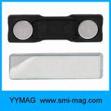 Distintivo di nome in bianco di plastica di nome del distintivo in bianco della modifica con il magnete