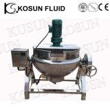Bouilloire revêtue industrielle de cuisson à la vapeur d'acier inoxydable avec l'agitateur