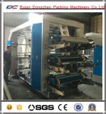Schraubenartiger Gang, der 6 Farben Polyethene Film Flexo Drucken-Maschine (NX-A61000, fährt)