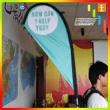 Anunciando a bandeira da trouxa da bandeira do indicador da rua da promoção