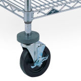 Fußrolle für Metalldraht-Fach (Draht-Regal-Zusatzgerät)