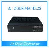 Sustentação satélite gêmea Zgemma H5.2s do receptor H. 265 Hevc dos afinadores com ósmio E2