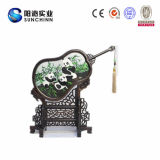 Вышивка Suzhou вентилятора уток мандарина Двойн-Определенная размер формой