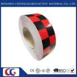 Black/Red 격자 디자인 사려깊은 Conspicuity 테이프 (C3500-G)