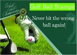 Sellos de la pelota de golf en el diámetro 11m m de las impresiones