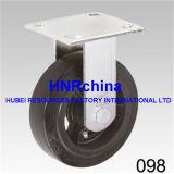 Schwarzer Belüftung-industrieller Schwenker mit Verschluss-Fußrolle