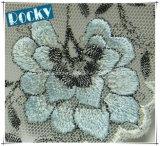 Tela do laço do jacquard do projeto do fato da flor