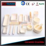 Crogiolo di ceramica dell'allumina refrattaria per il laboratorio