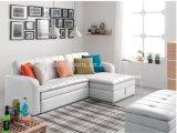 Weißes Leder-Sofa-Bett für Haus-Gebrauch (SB011)