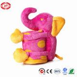 Cobertor ajustado do presente dos miúdos do delicado feito sob encomenda cor-de-rosa do elefante do luxuoso