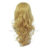 Curly 긴 Golden Hair Half Lolita Wigs 1/2 Wig