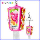 Personalizar o suporte de frasco relativo à promoção do gel do Sanitizer da mão do silicone do presente