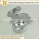 イースターDecorationのための銀製のPlating Porcelain Rabbit Shape Candle Holders