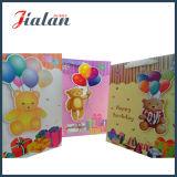 La alta calidad encantadora del oso modifica la bolsa de papel para requisitos particulares del cumpleaños del diseño 3D