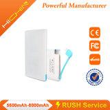 Banco de la tarjeta de crédito delgado portable 2600mAh de la energía