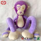 Peluche sconosciuta viola di Stretchkins della scimmia che impara i giocattoli