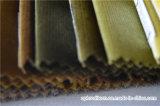 Tissu de velours tissé par polyester pour le sofa et le rideau