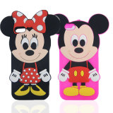 Caixa do telefone de pilha do silicone do PONTO da série de Mickey Minnie para o iPhone 6 (XSD-061)