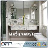 Цена Favourabl мраморный верхних частей тщеты ванной комнаты для коммерчески и селитебного проекта