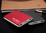 Заряжатель 12000mAh перемещения двойного выхода алюминиевый приспособленный для всеобщего мобильного телефона