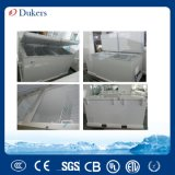 Congelador del pecho de la marca de fábrica 520L de Dukers con dos puertas