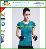 Maglietta del manicotto di Short di compressione di Bodybuilding di forma fisica di ginnastica di donne