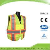 Gilet r3fléchissant de sûreté de sécurité avec le certificat de la CE