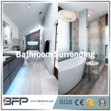 Azulejo que hace frente de mármol gris/anillos que hacen frente para el cerco/que hace frente del cuarto de baño