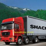 Carro de acoplado de Shacman F3000 6X2 con el acoplado y el carro