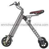 3개의 바퀴를 가진 전기 스쿠터를 접히는 Portable