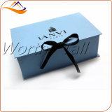 Boîte-cadeau magnétique de papier de bloc supérieur avec la bande pour des ventes en gros de bijou