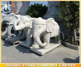 Statua animale di pietra dell'elefante di stile della Tailandia della scultura