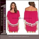 De mode de crochet robe Chiffon d'été en arrière maxi (TKYA737)