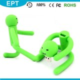 Movimentação verde flexível do flash do USB da forma dos povos para o menino (EP019)