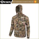 Tactical Acu color Thin Men Senderismo Impermeable acampar chaquetas de la capa exterior