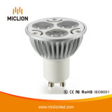 luz de bulbo de 3W MR16 LED con la base de cristal