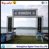 Ligne d'arrivée en aluminium de botte de drapeau botte de marathon de botte