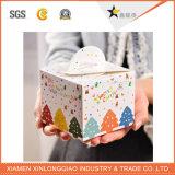 Festival-Weihnachtspapppapier-Geschenk-Kuchen-Quadrat-kundenspezifischer Fall-Kasten