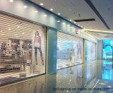 Дверь завальцовки рекламы/поликарбоната торгового центра/магазина прозрачная