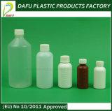 frasco branco plástico do PE líquido da medicina 100ml