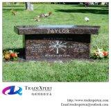 Granito di pietra della natura con il Headstone di disegno dei banchi, pietra tombale