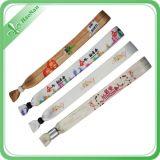 Wristbands promozionali del tessuto di vendita calda su ordinazione per il partito