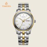 Einfache automatische Mann-Uhr-Großhandelsform-Stahlriemen-Frauen-Armbanduhr 72323