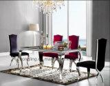 De Marmeren Eettafel van het metaal met het Marmeren Meubilair van de Woonkamer