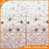 azulejos de cerámica de la pared de Gloosy del color de rosa del uso de la sala de estar de 300X600m m