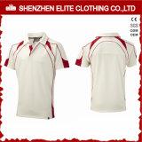 Nuevo diseño blanco Deportes Cricket Jersey modelos