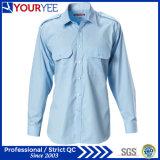 Trabajo modificado para requisitos particulares Chothes (YWS114) del verano de las camisas del trabajo del algodón